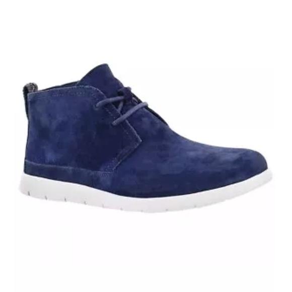 96abcc7b2b6 UGG men freamon chukka boots blue suede SZ 9 shoe NWT